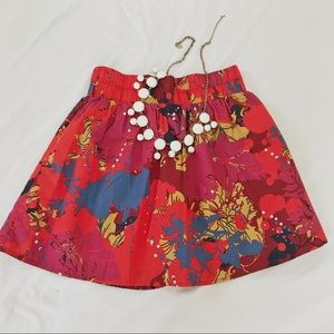 Floral Mini Skirt Size Small